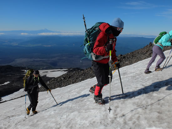 Mt Adams Climbing Bosson Ridge