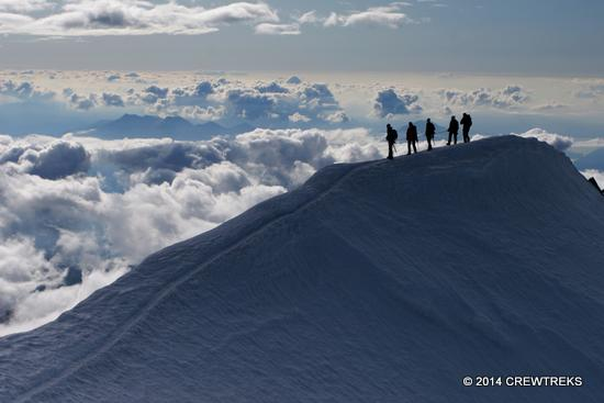 Mt Blanc Climbing Bosson Ridge